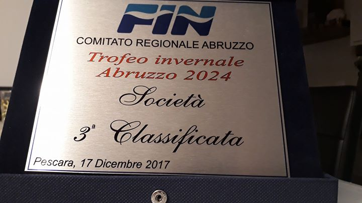 Trofeo invernale Esordienti A e B Abruzzo 2024 Società Pinguino Nuoto Avezzano terza classificata…