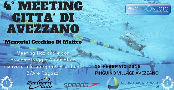 18 Febbraio 2018 4° Meeting Città di Avezzano! Tutto pronto per la quarta edizione…