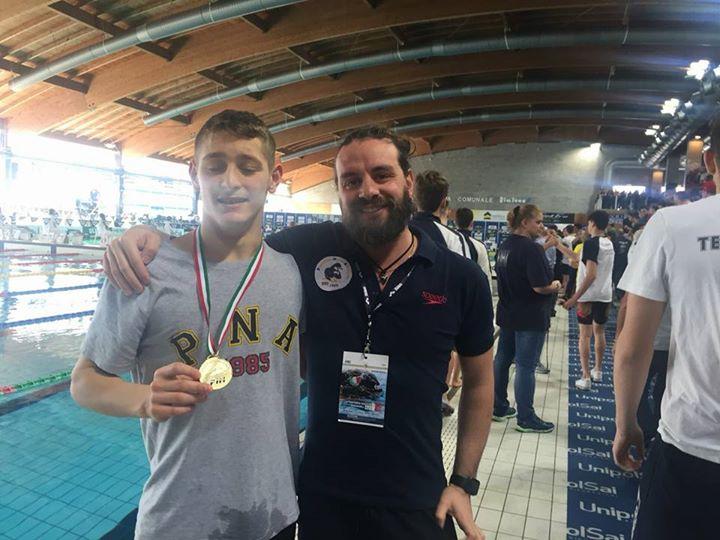 Un'altra medaglia arriva da Riccione ed è quella più preziosa, Alessandro Bianchi della Pinguino…