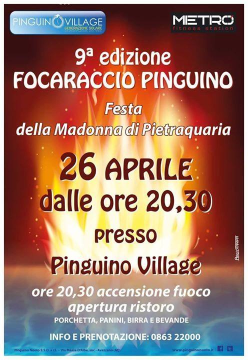 GIOVEDÌ 26 APRILE DALLE ORE 20:00 PINGUINO VILLAGE
