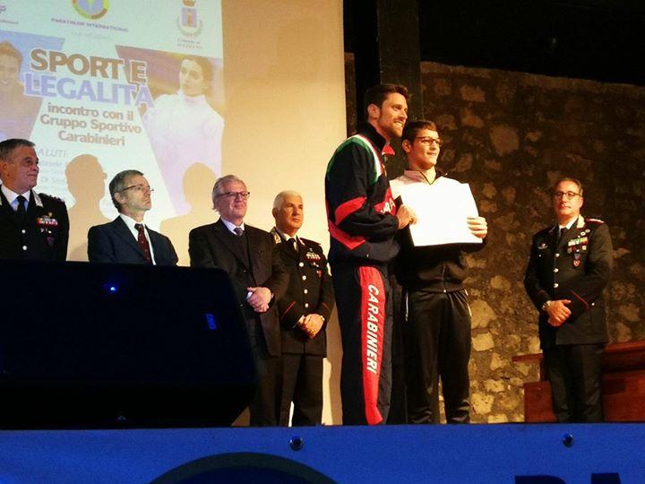 Sport e Legalità. Convegno con il gruppo Sportivo Carabinieri e con il Campione Europeo…