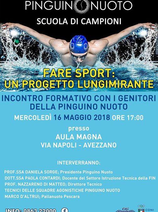 Mercoledì 16 maggio presso l'aula magna dell'università di Avezzano si terrà un incontro formativo…