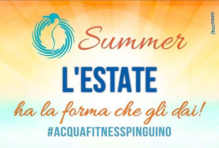 Domani DOMENICA 1 LUGLIO doppio appuntamento con #acquafitnesspinguino ️ ore 11:00 AcquaFantasy Vasca Interna…