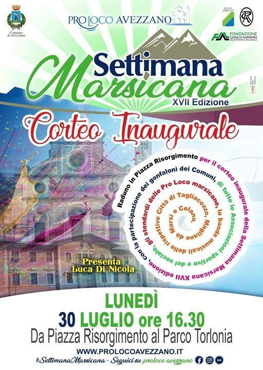 Ci vediamo questo pomeriggio in Piazza Risorgimento per inaugurare la XVII edizione della #SettimanaMarsicana……