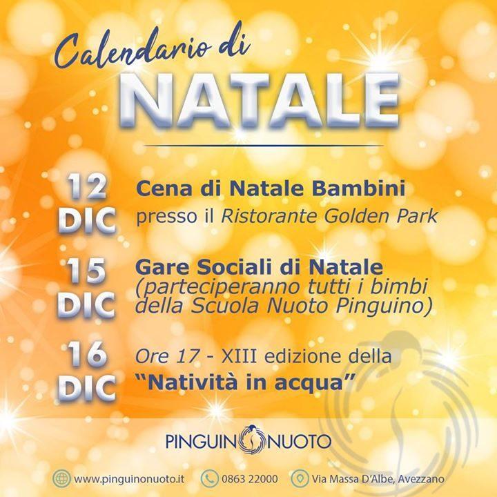 Calendario di #Natale degli eventi #Pinguino Il Natale è arrivato anche da noi! Per…