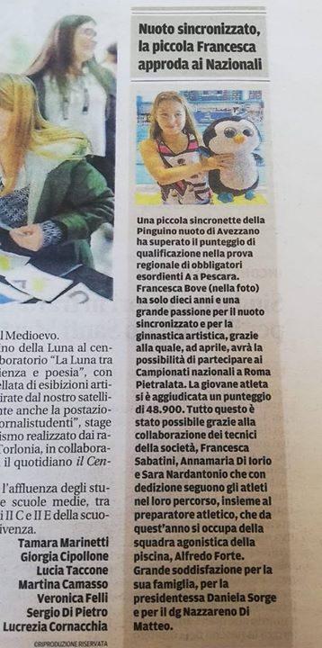 """Oggi su """"ILCentro"""" grazie ai giornalisti studenti LICEO CLASSICO Avezzano"""