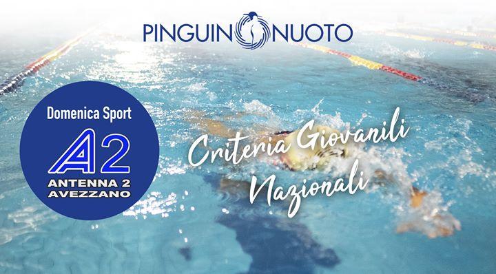 Criteria Giovanili Nazionali con Claudia Di Passio Sentiamo la voce dell'Atleta della Pinguino Nuoto…