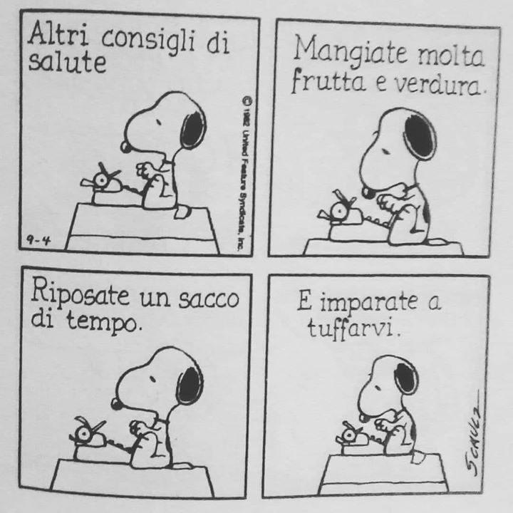 SPLASH I saggi consigli di #Snoopy vanno sempre messi in pratica!! ️ #scuolanuoto #nuotolibero…