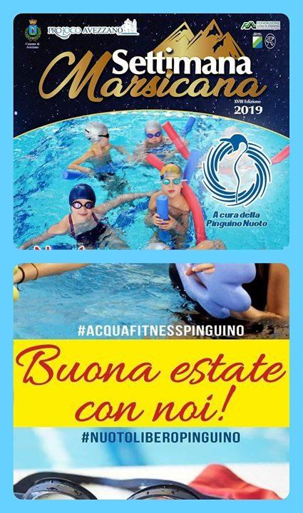 SETTIMANA MARSICANA 2019 🆙️ Un'estate in piena forma con #AquafitnessPinguino e #NuotoLiberoPinguino 🆓️ Vieni…