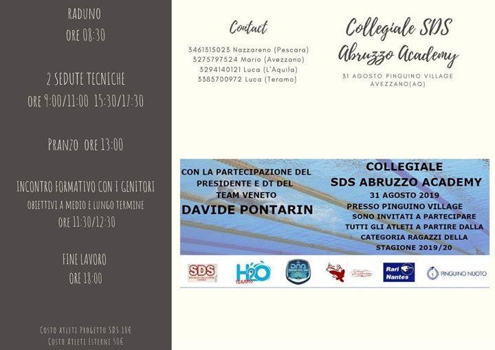 Collegiale SDS Abruzzo Academy 31 Agosto 2019 Pinguino Con la Partecipazione del Presidente e…